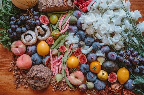 Flatlay Photography of Fruits