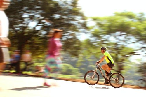 คลังภาพถ่ายฟรี ของ bicicleta, การเคลื่อนไหว, ความปิติยินดี, ความเร็ว