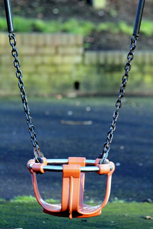 Orange and Gray Bucket Swing