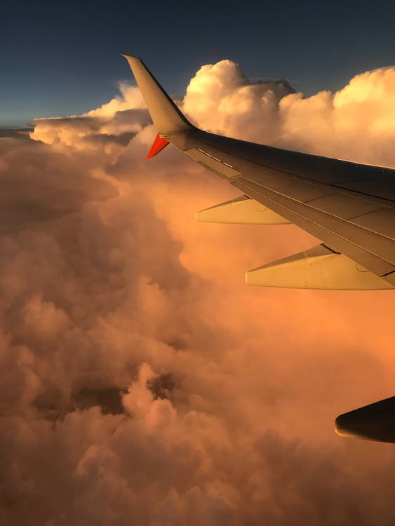 aeronave, aeropuerto, alas