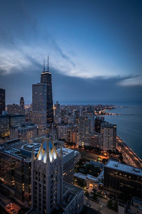 คลังภาพถ่ายฟรี ของ จุดสังเกต, ชิคาโก, ตัวเมือง, ตึก