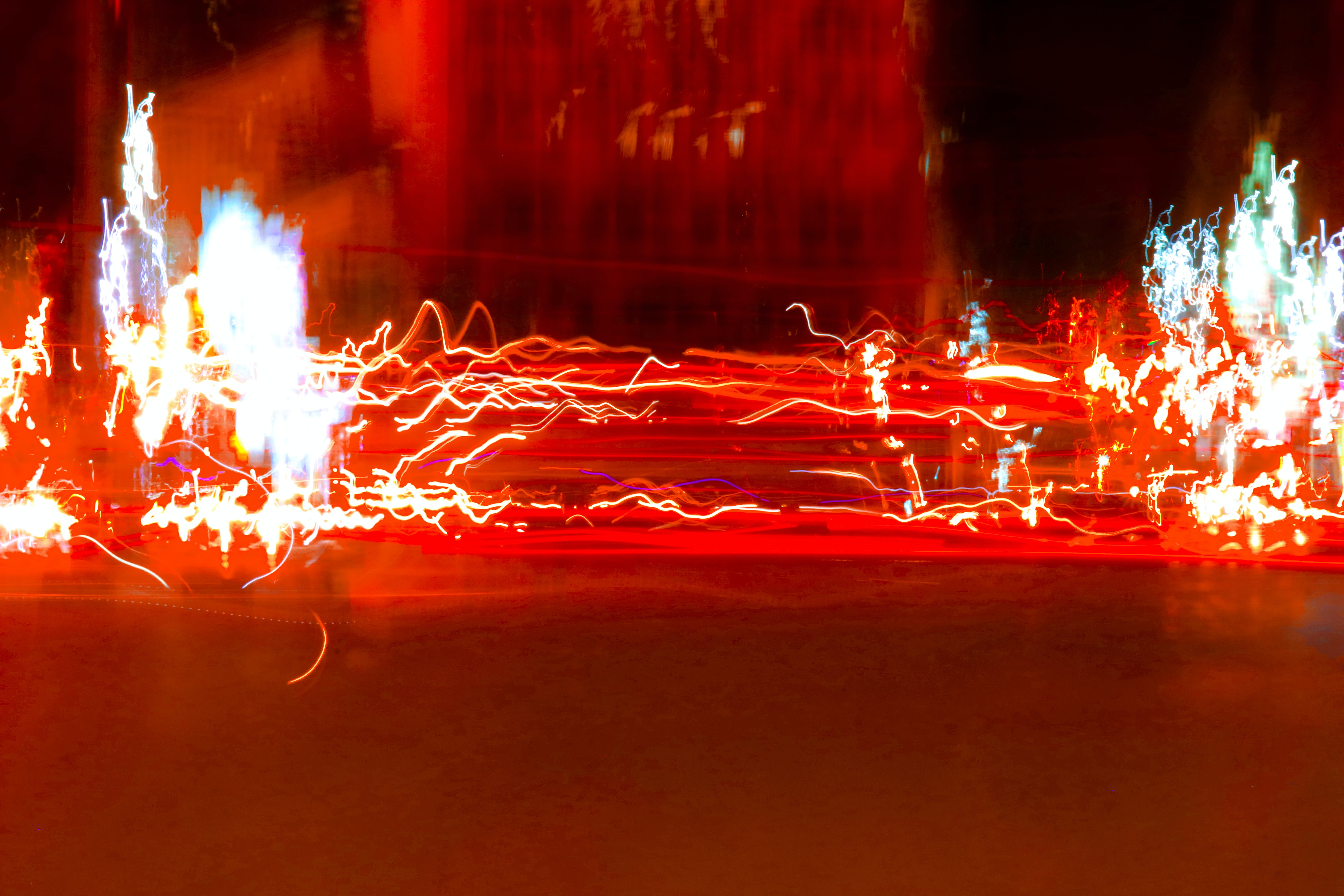 Free stock photo of car lights, city lights, downtown, exposure