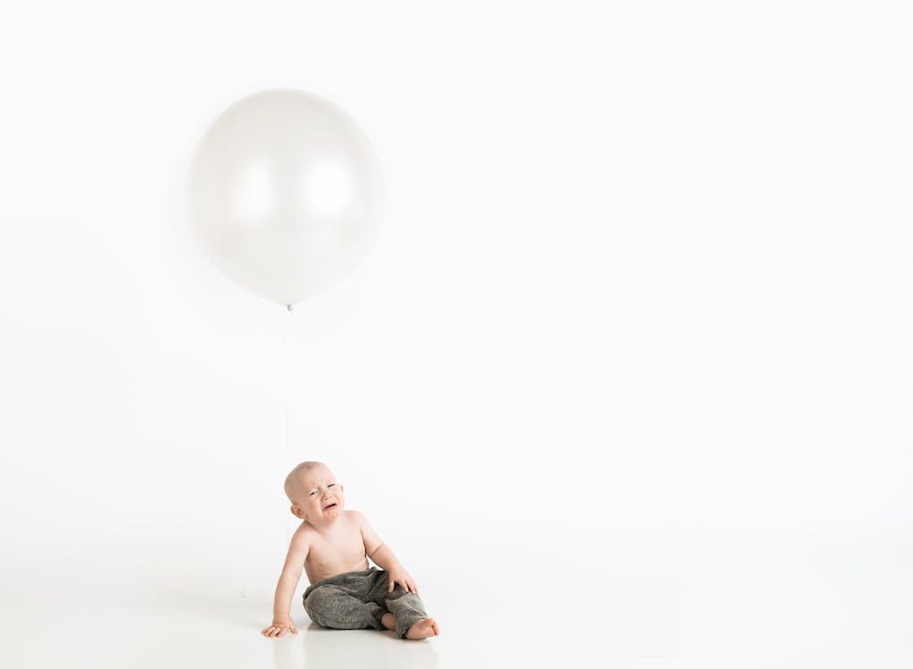 adorável, balão, bebê