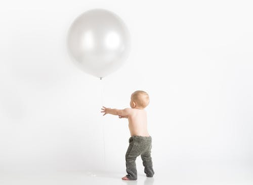 Free stock photo of baby balloon, cute baby