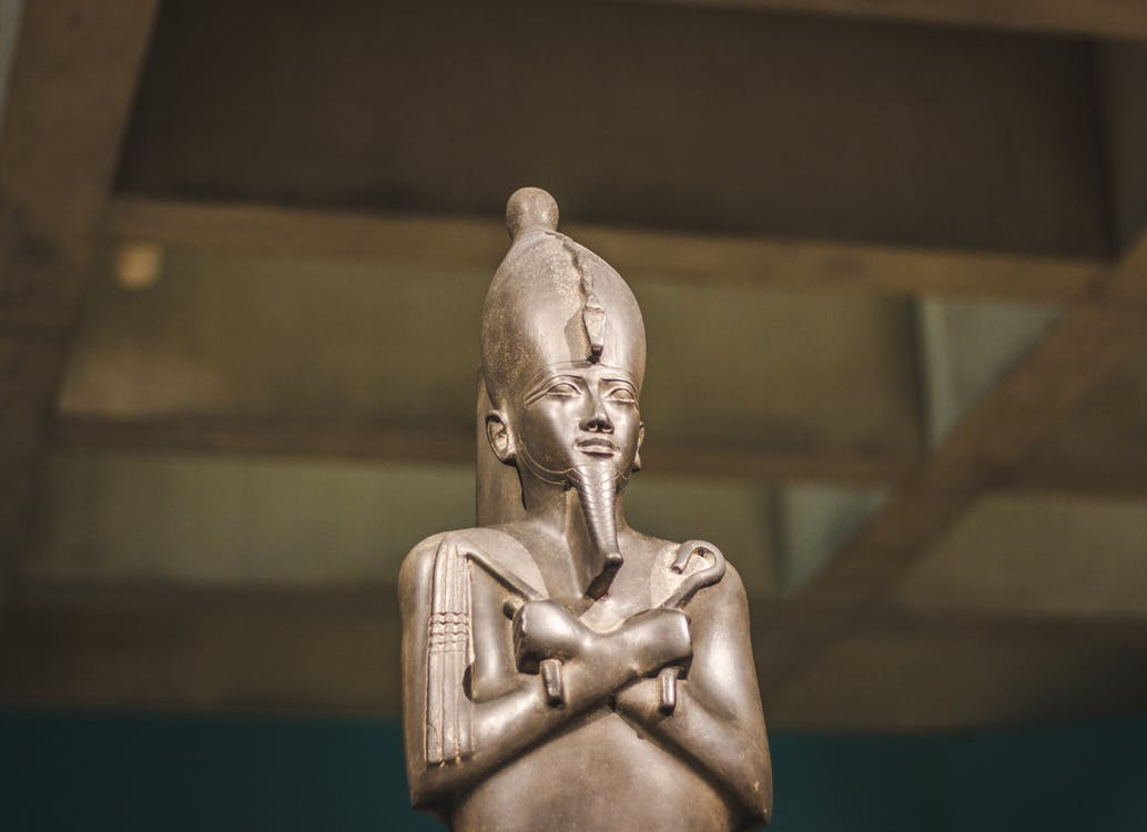 Close-up Photo of Pharaoh Figurine