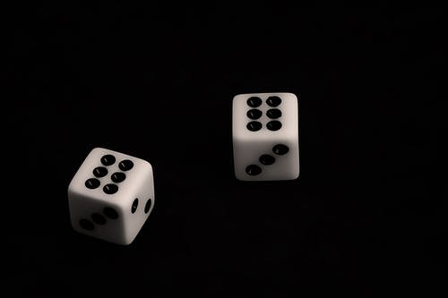 Free stock photo of black, casino, dice, die