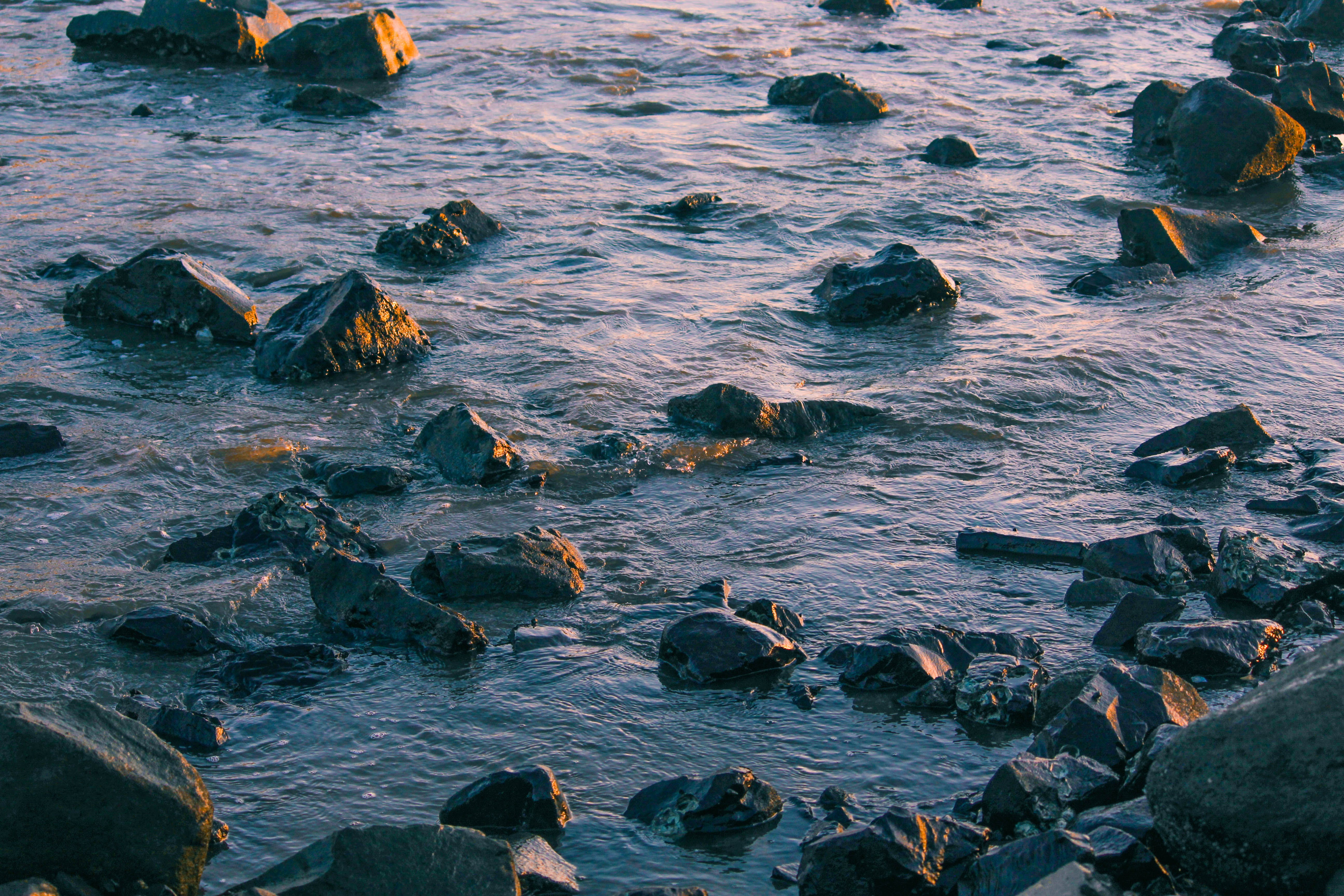 Rocky Body Of Water