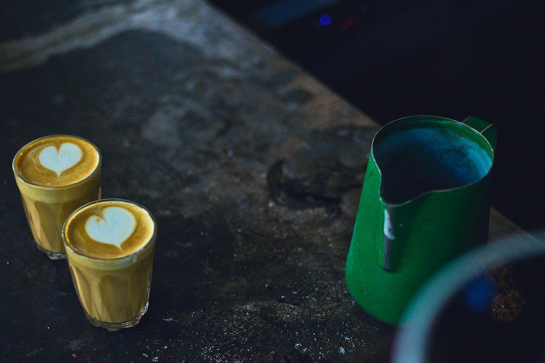 咖啡, 拉花, 拿鐵 的 免费素材图片