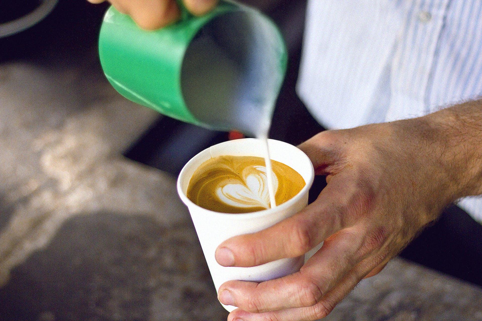 Free stock photo of coffee, cup, café, milk