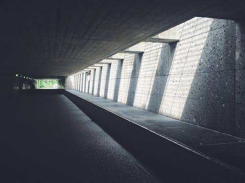 거리, 도로, 벽, 터널의 무료 스톡 사진