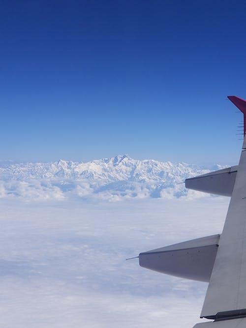 美しい青い空の無料の写真素材