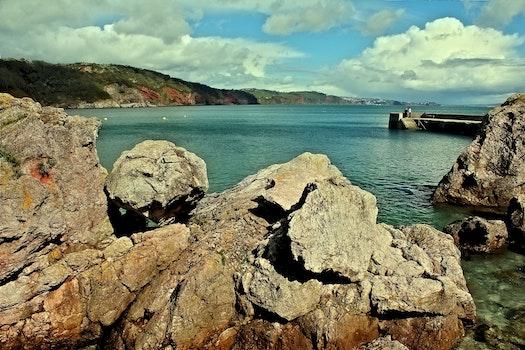 Free stock photo of sea, landscape, mountains, nature