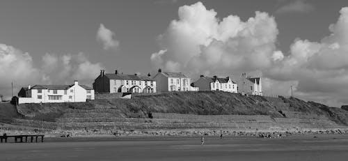 Free stock photo of beach, black-and-white, coast, coastal