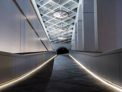 Foto d'estoc gratuïta de arquitectura, edifici, passadís, sostre