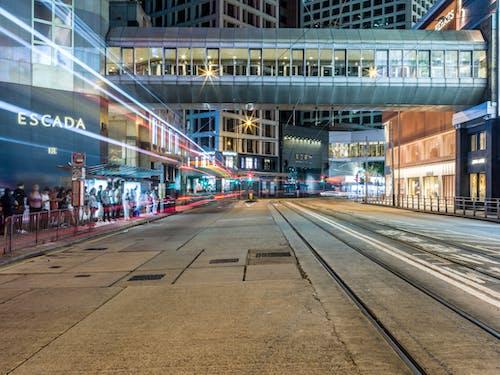 光迹, 城市, 建築, 有軌電車線路 的 免费素材图片
