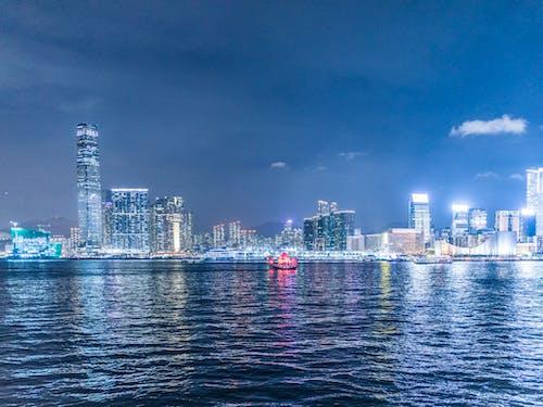城市, 城市的燈光, 天空, 天際線 的 免费素材图片