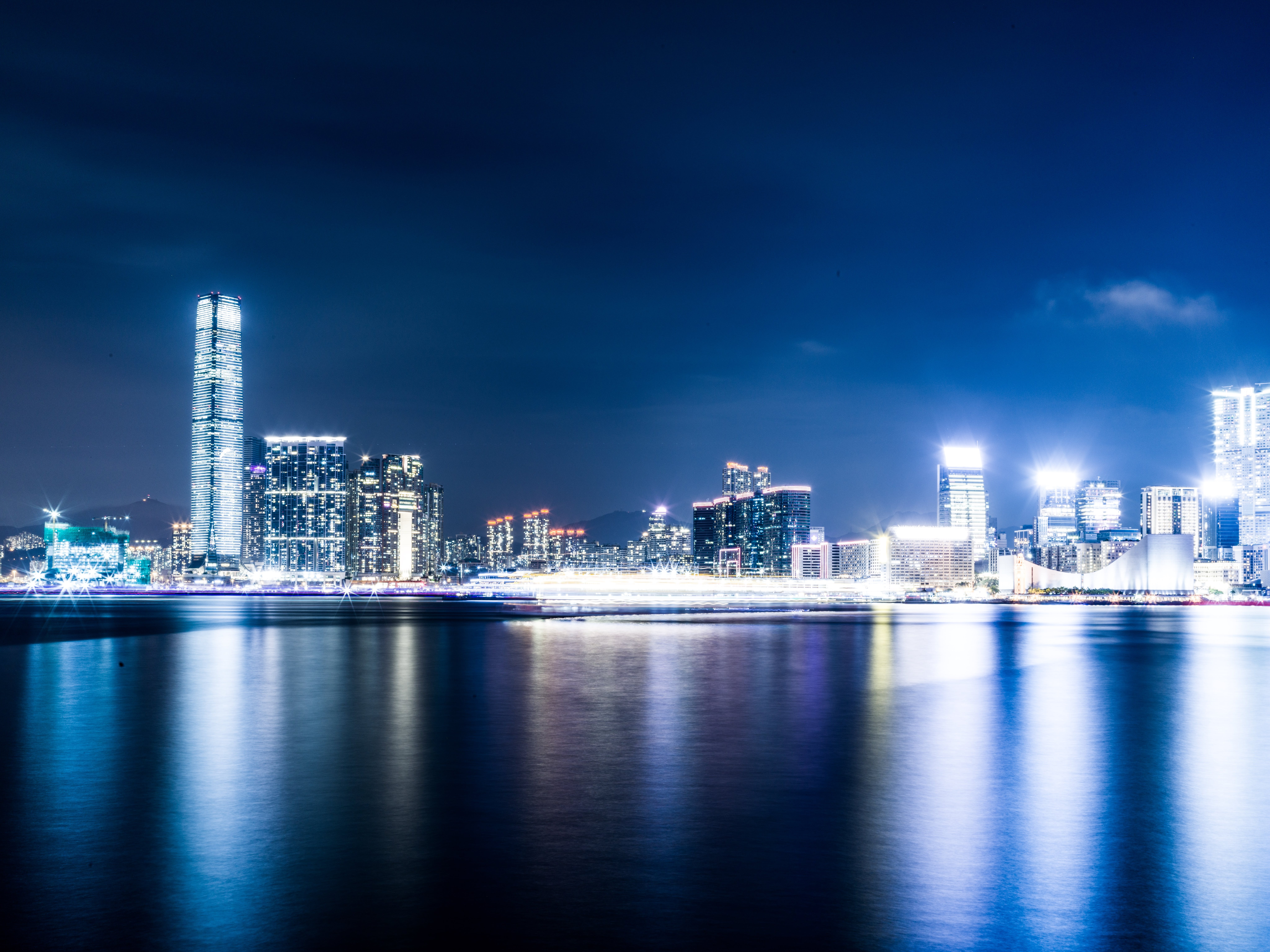 Scenic View of City Lights