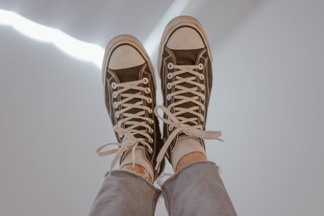 발, 소녀, 스니커즈