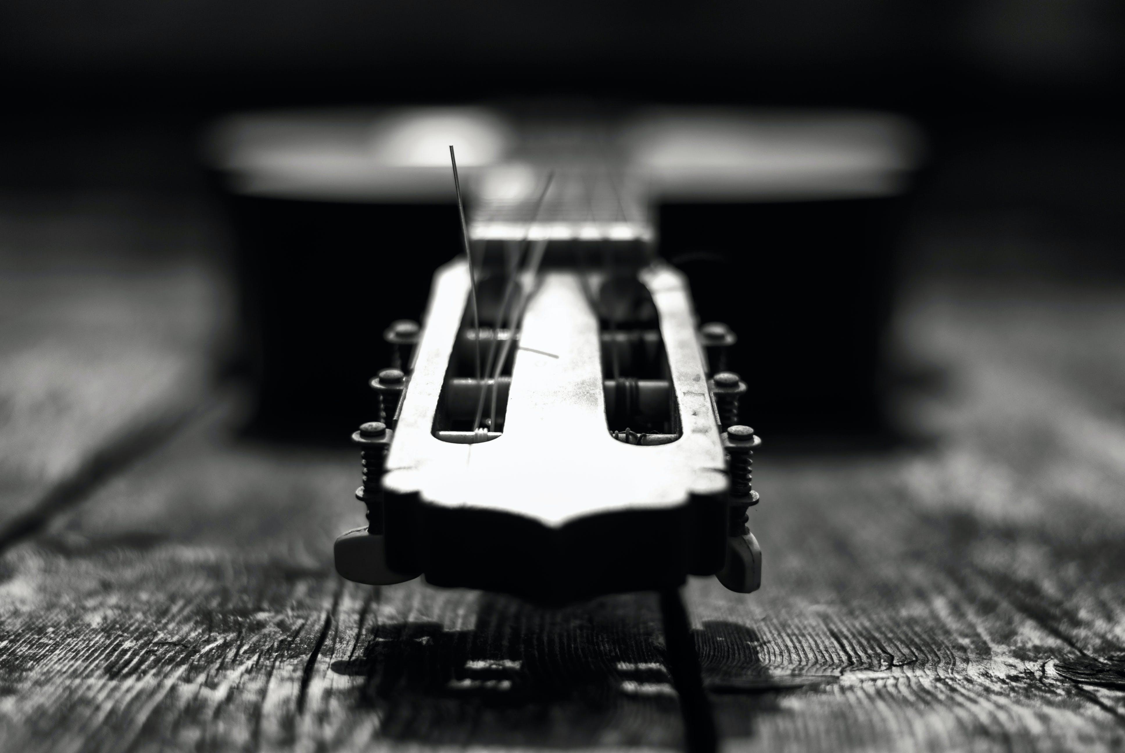 černobílá, černobílý, hudební nástroj