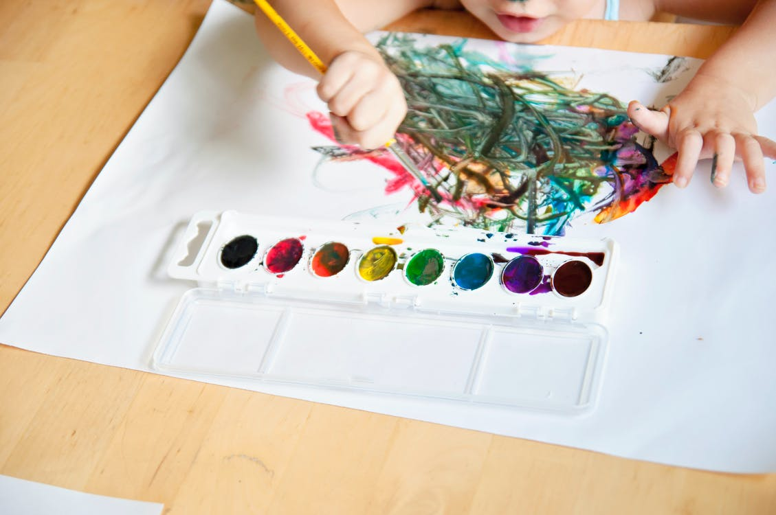 arts and crafts, child, child painting