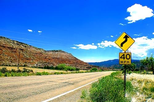 Free stock photo of blue mountains, desert, diamond sign