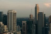 city, dawn, skyline