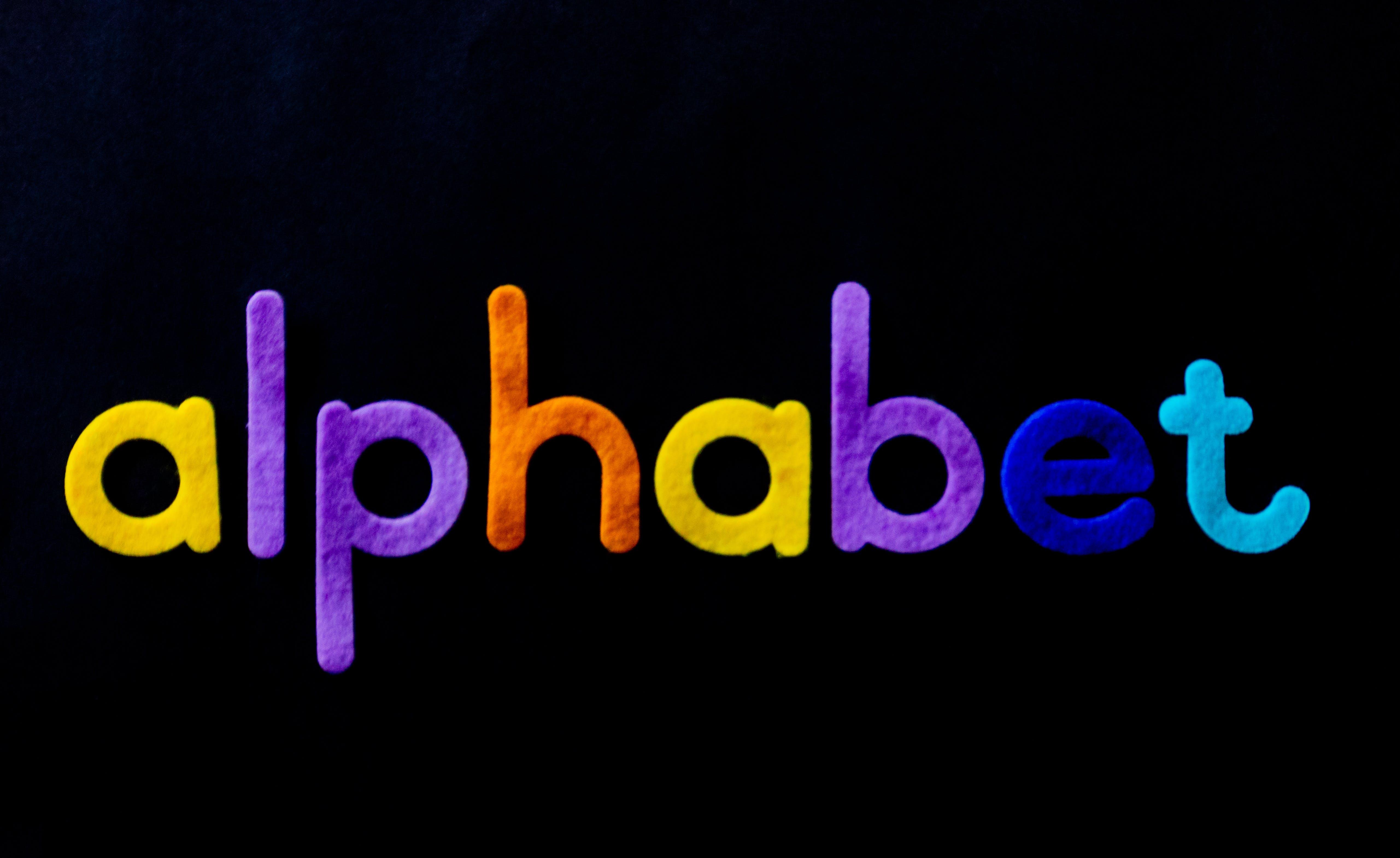 Alphabet With Text Overlay