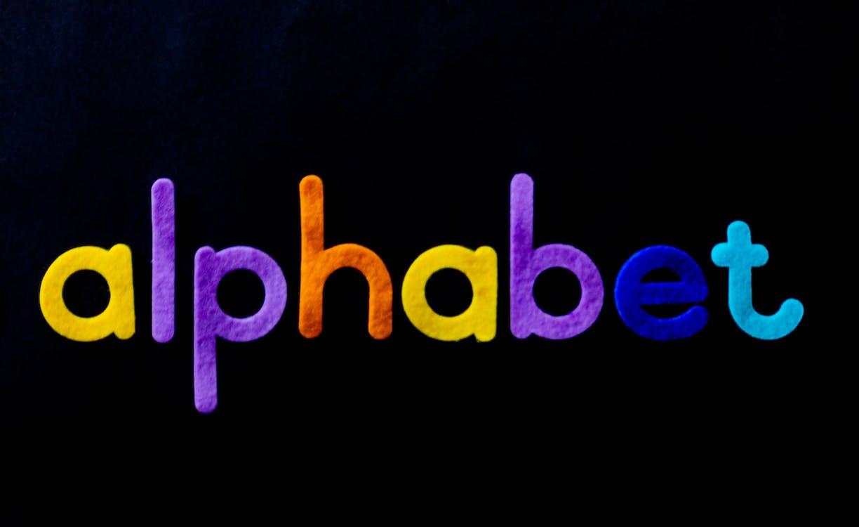 абв, алфавит, вырезанный
