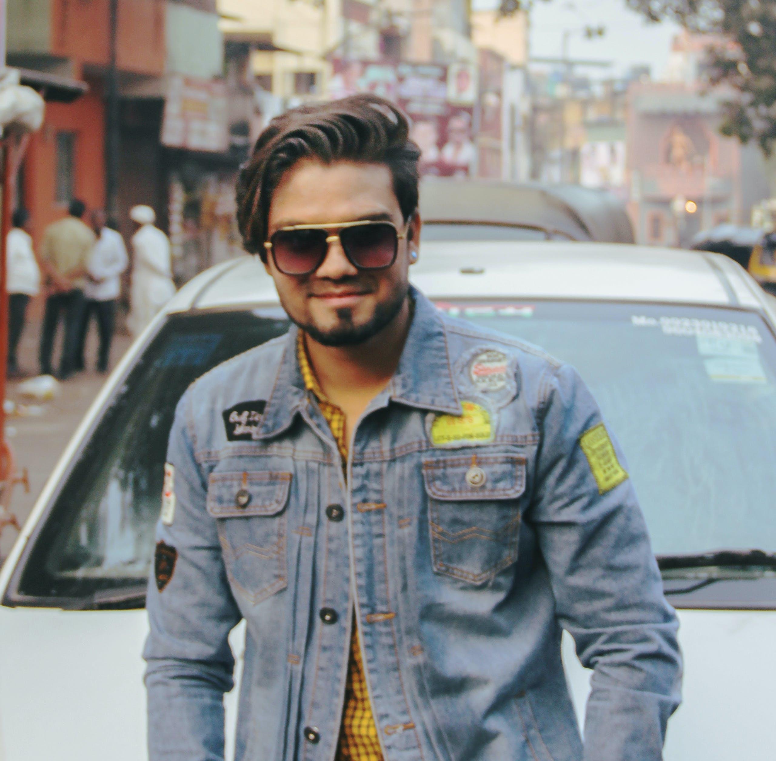 Free stock photo of denim jacket, fashion model
