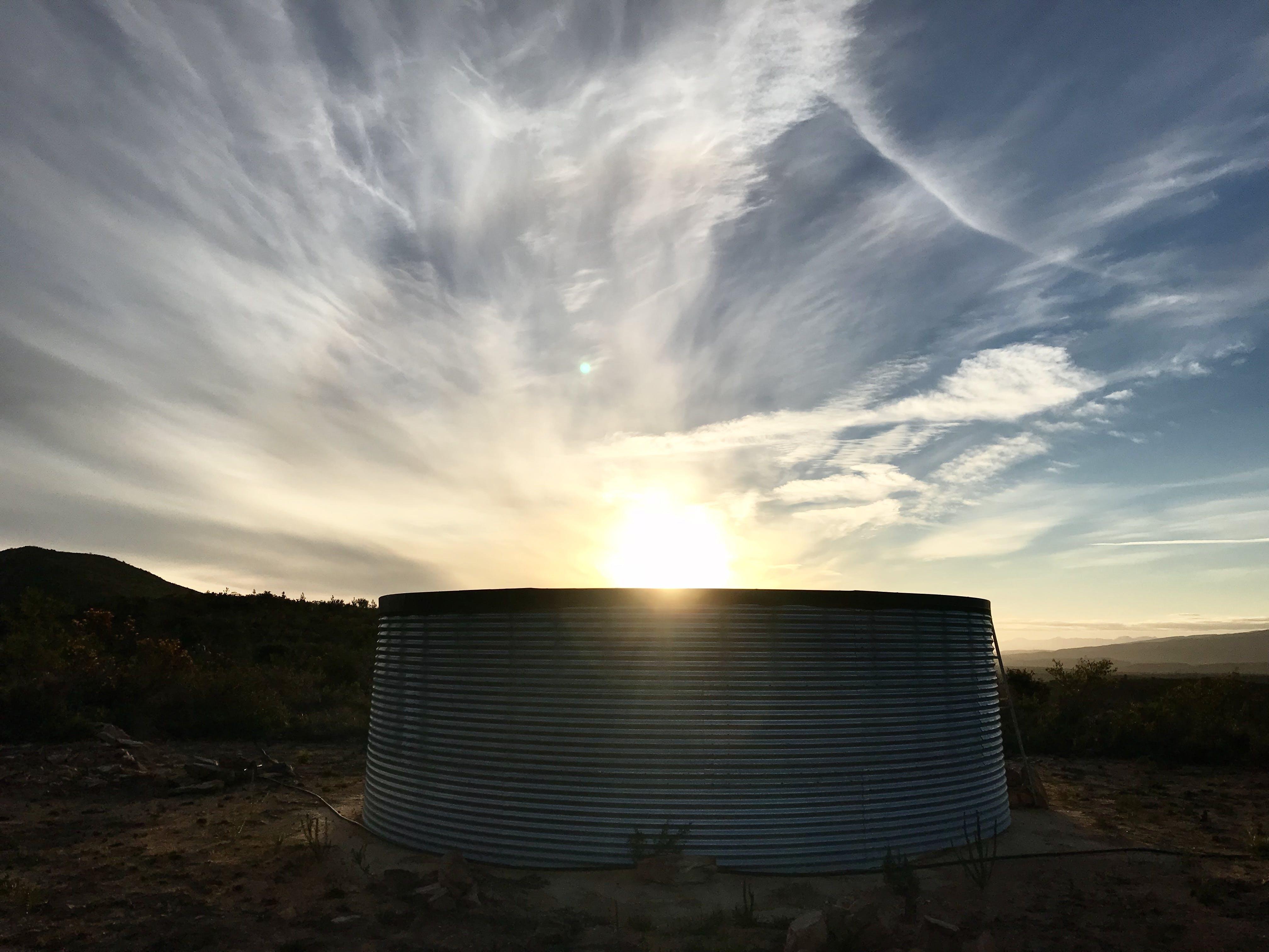 Free stock photo of clouds, dam, farm, golden sunset