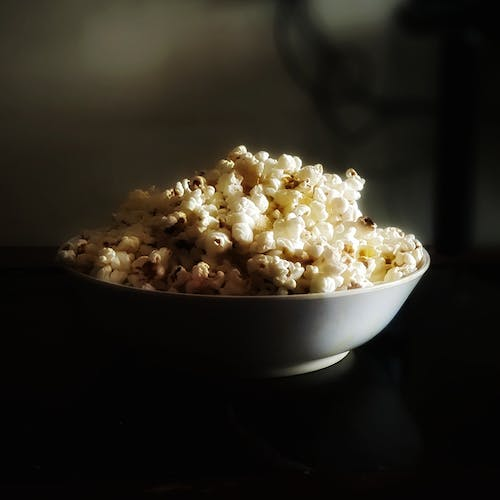 Free stock photo of #mobilechallenge, popcorn, selective focus, snacks