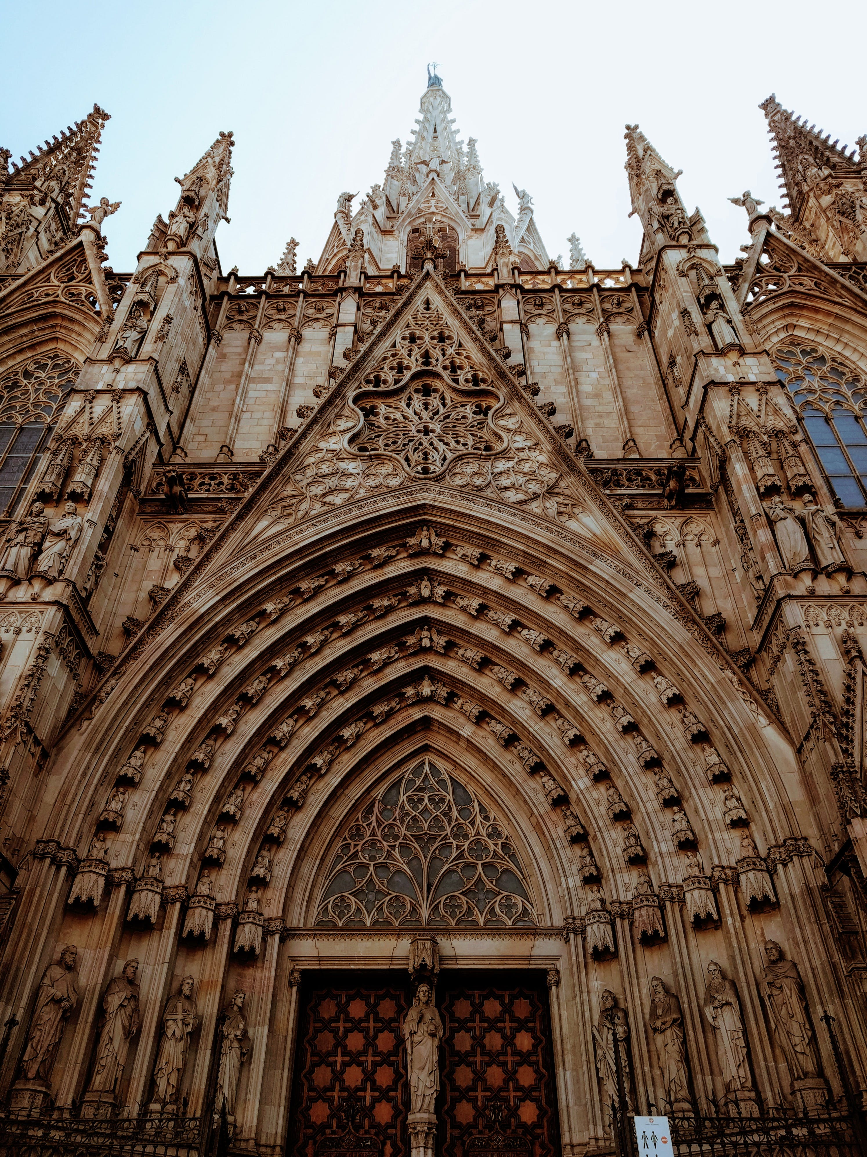 Worm's Eye view of the Barcelona Cathedral