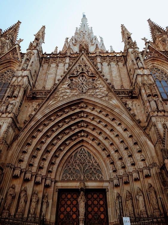 barcelona, barcelona katedrali, bina cephesi