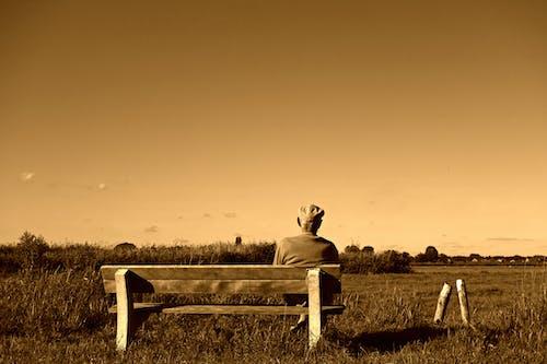 Free stock photo of bench, elderly, man, old man