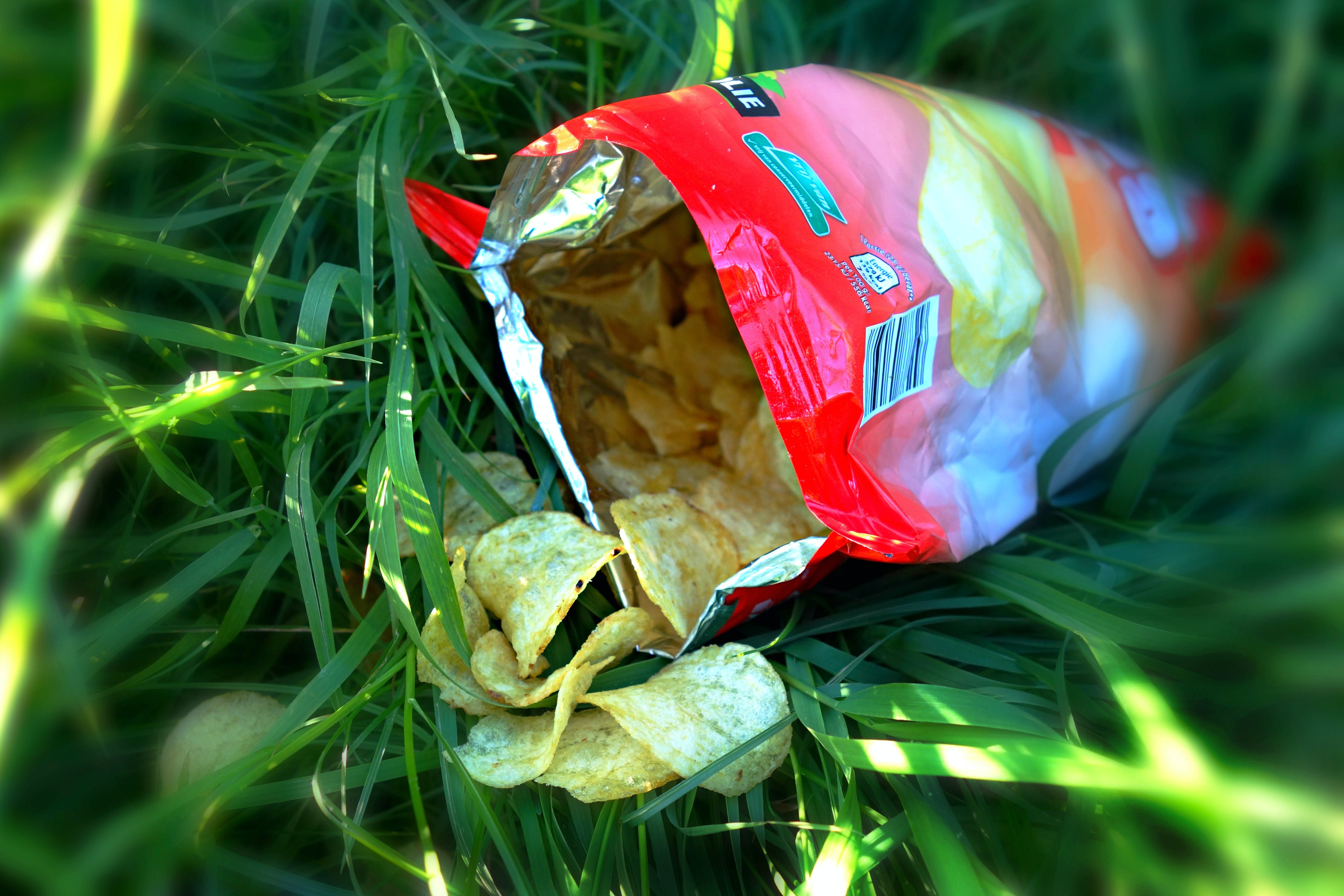of bag of crisps, calories, crisps, fast-food