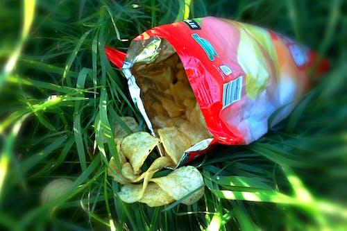 Free stock photo of bag of crisps, calories, crisps, fast-food