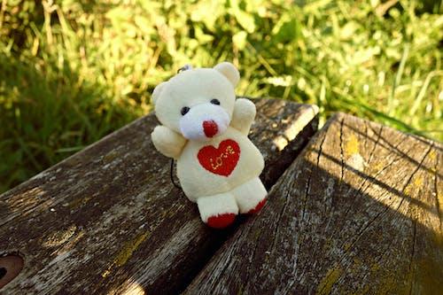Free stock photo of bear, cute, heart, key hanger