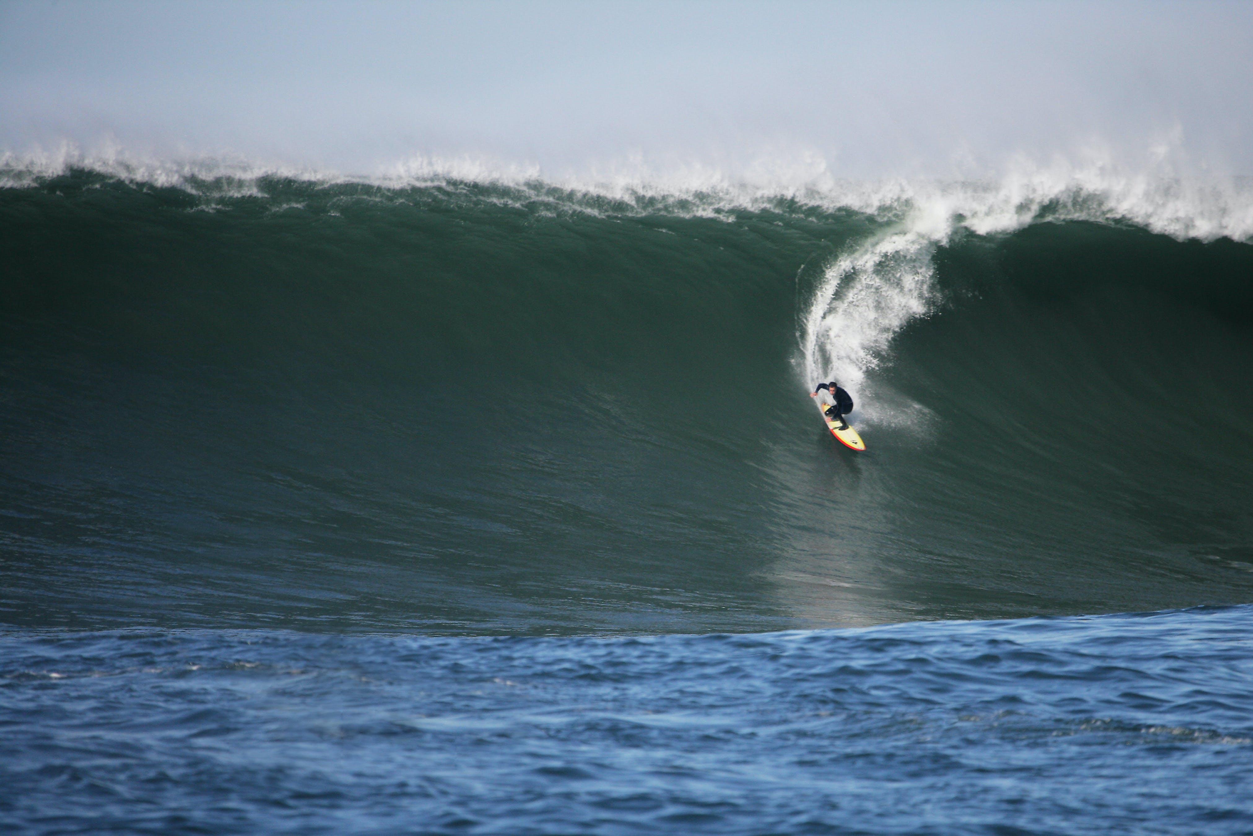 Free stock photo of 30 feet, huge waves, motion, ocean water