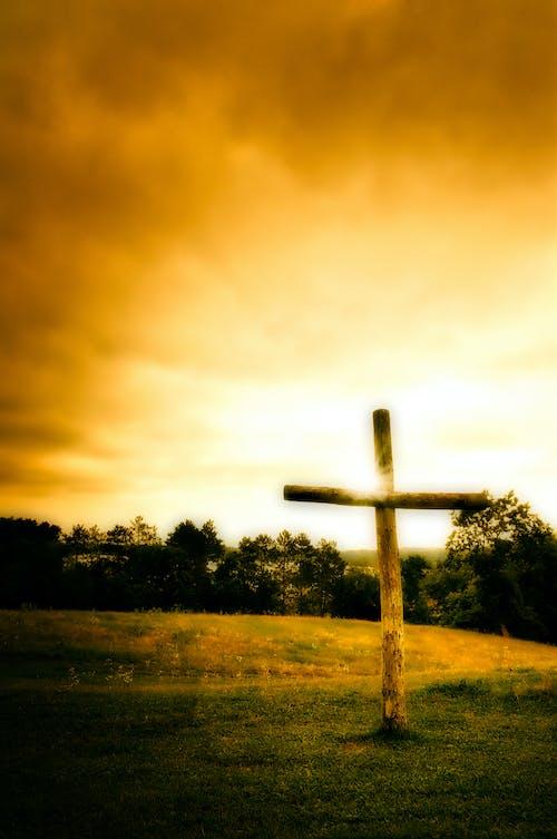 Бесплатное стоковое фото с закат, крест, христианский