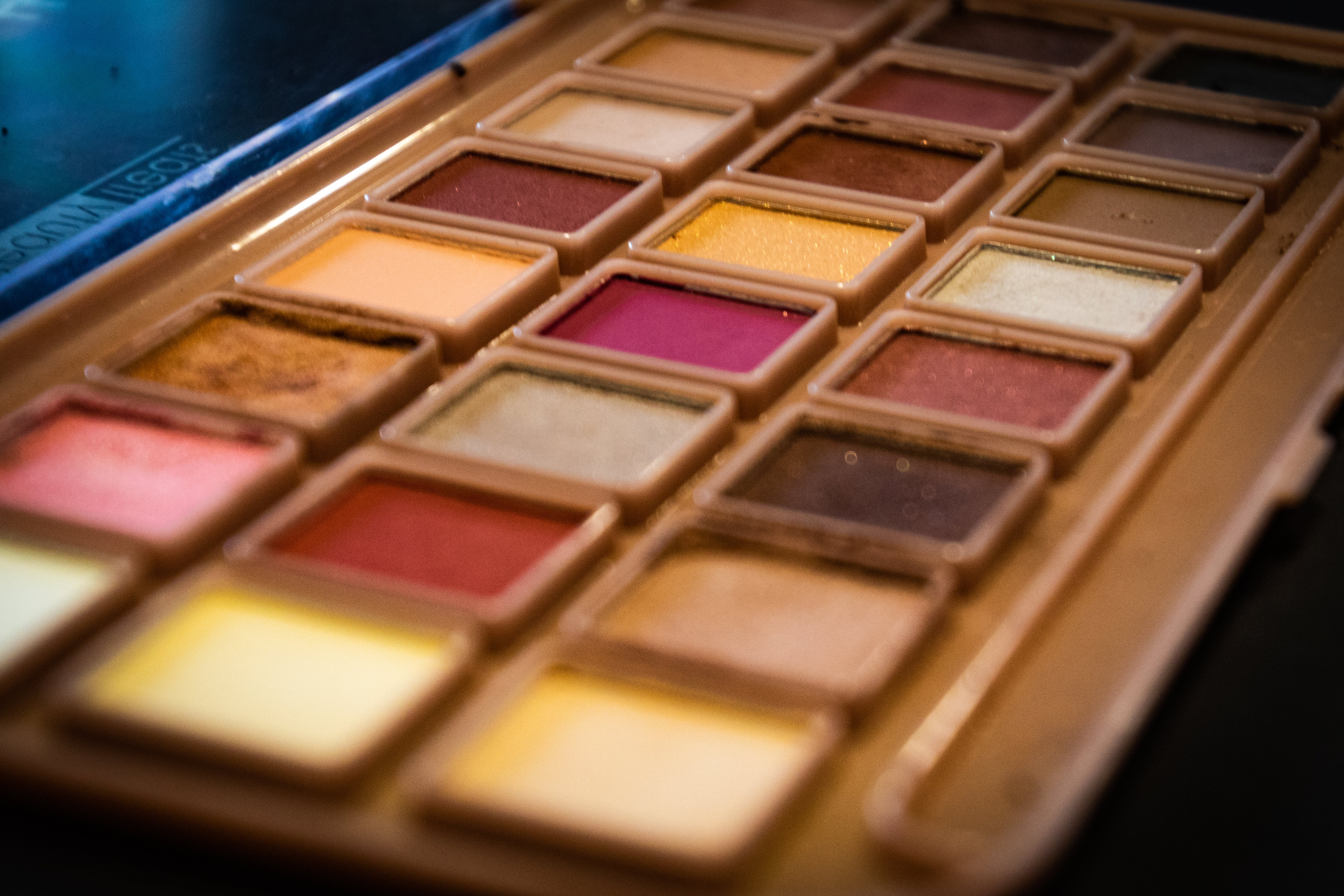 Depth of Field Photography of Makeup Palette