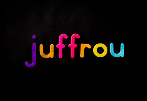 Black Background With Juffrou Text Overlay