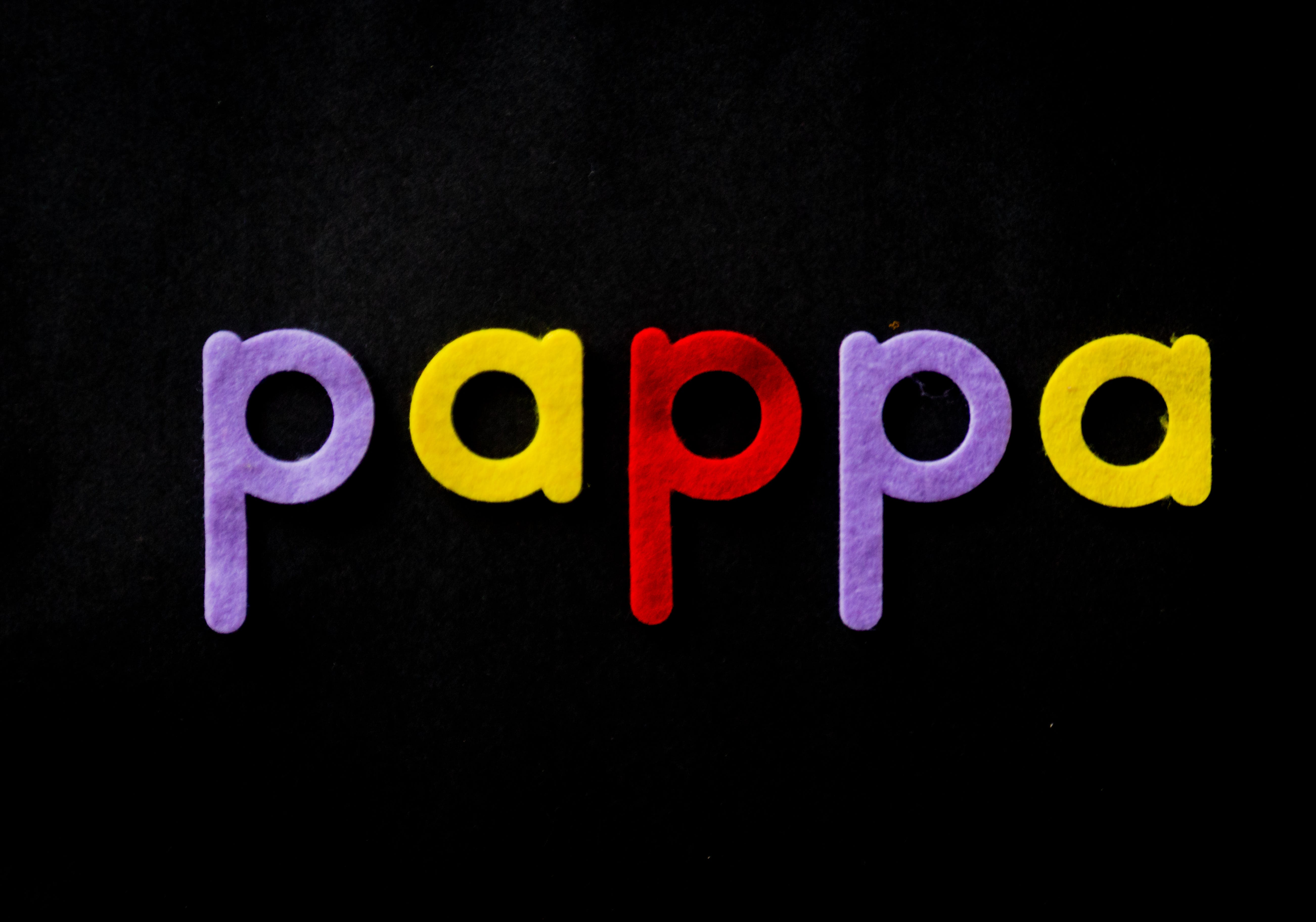 Black Background With Pappa Text Overlay