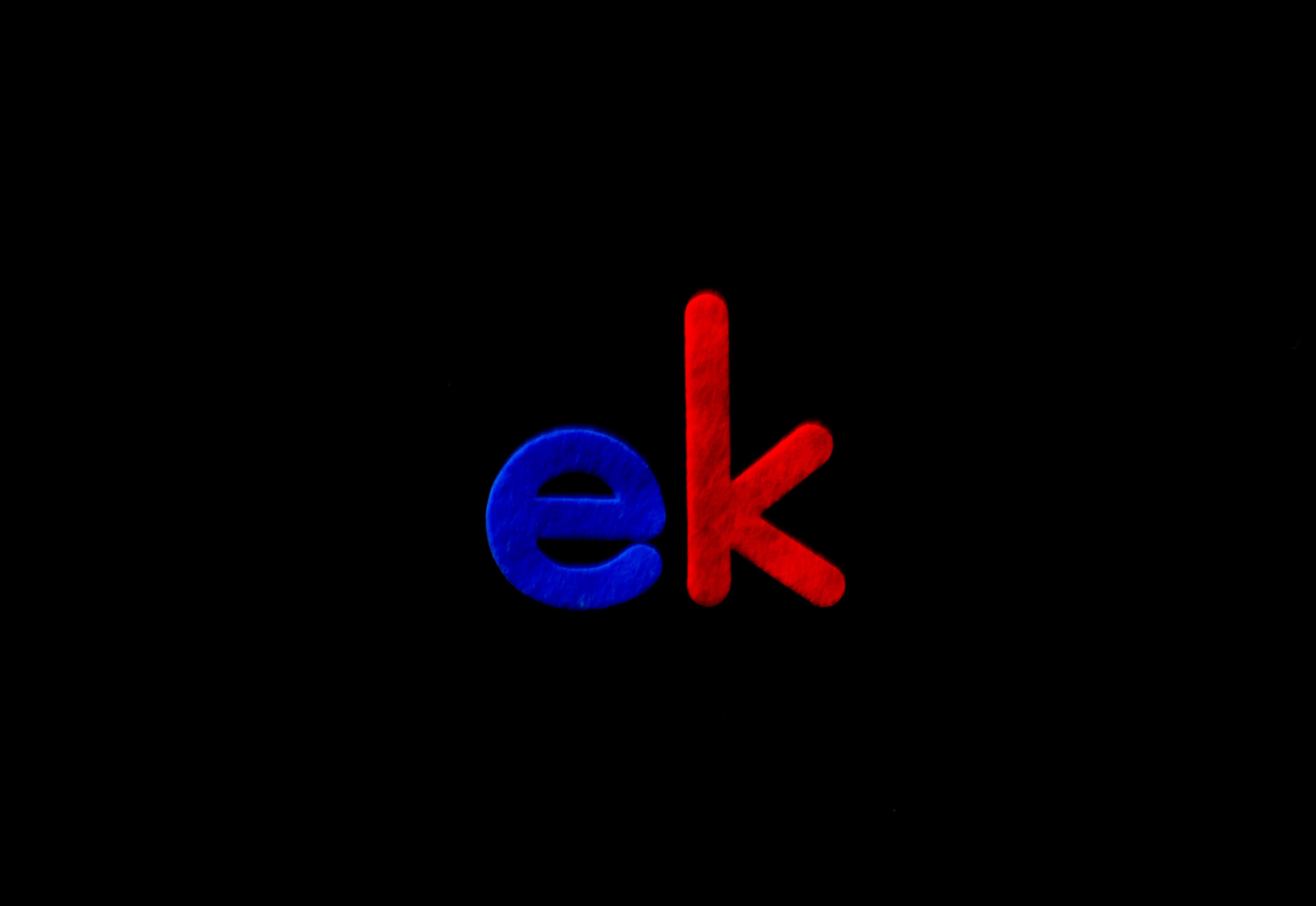 Ek Logo Illustration