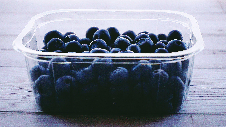 Kostnadsfri bild av äta nyttigt, bär, behållare, blåbär