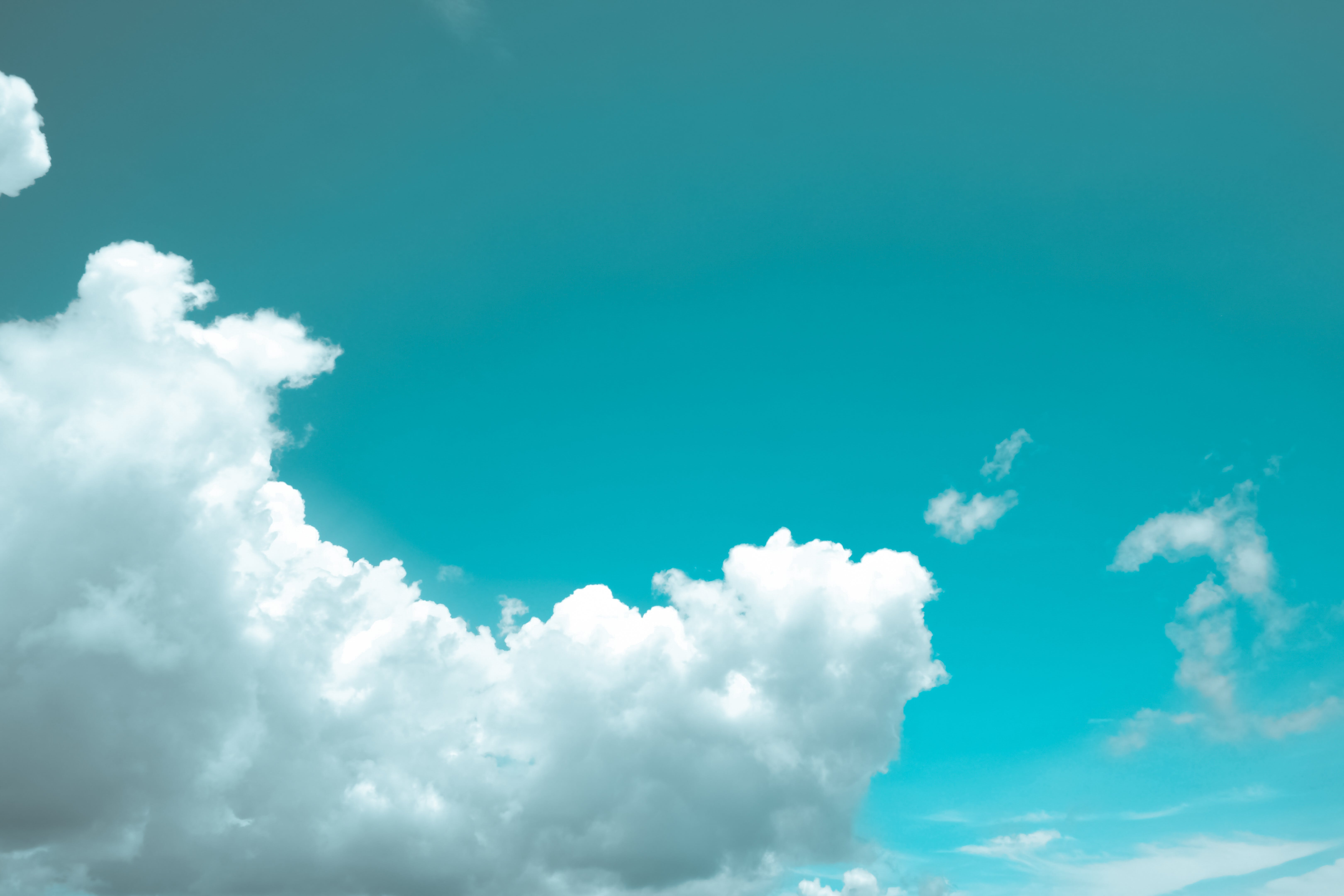 White Cloudy Blue Sky