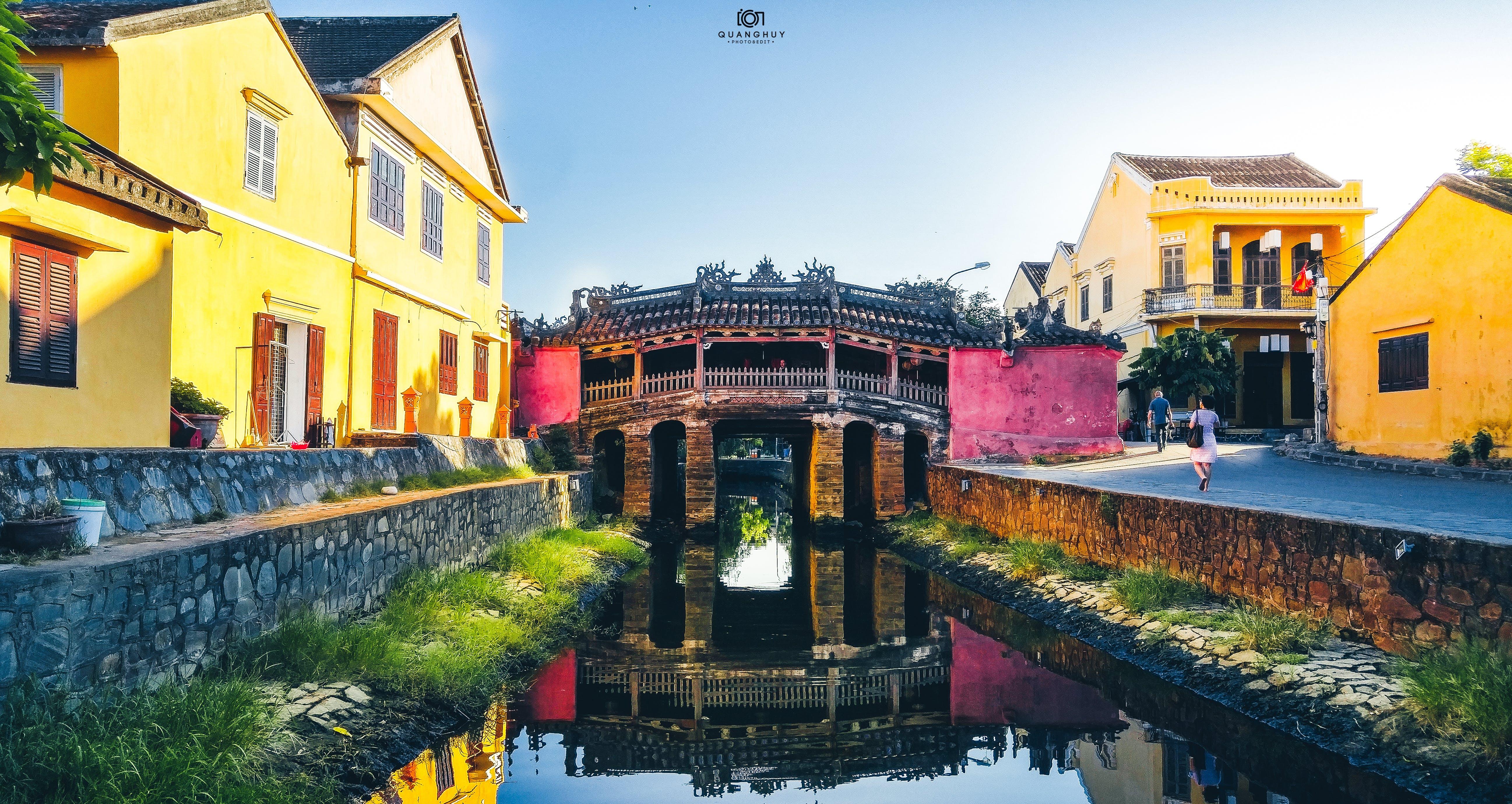 Free stock photo of chùa cầu, lg, mirror image, sunny