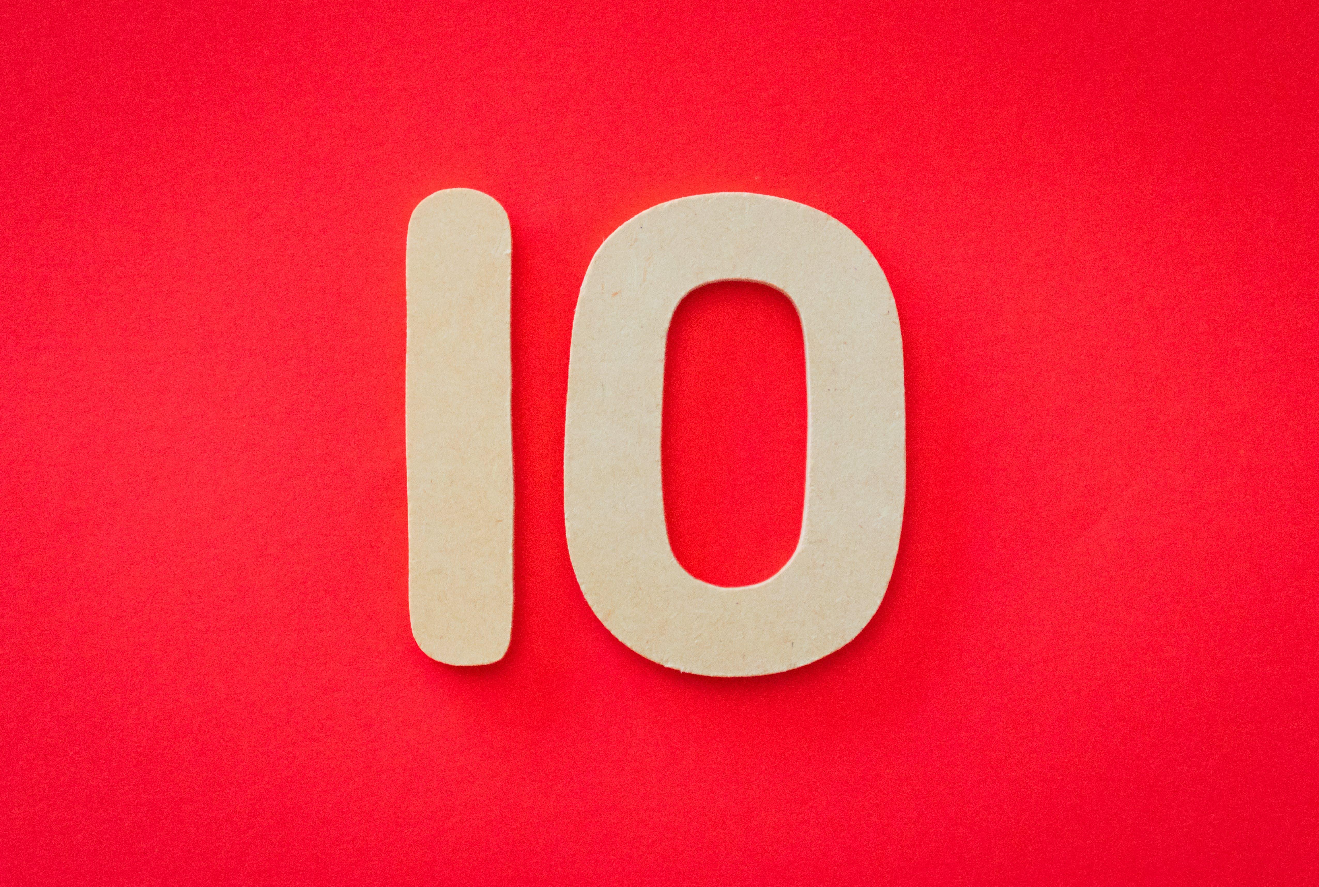 Kostenloses Stock Foto zu 10, abbildung, ausbildung, begrifflich