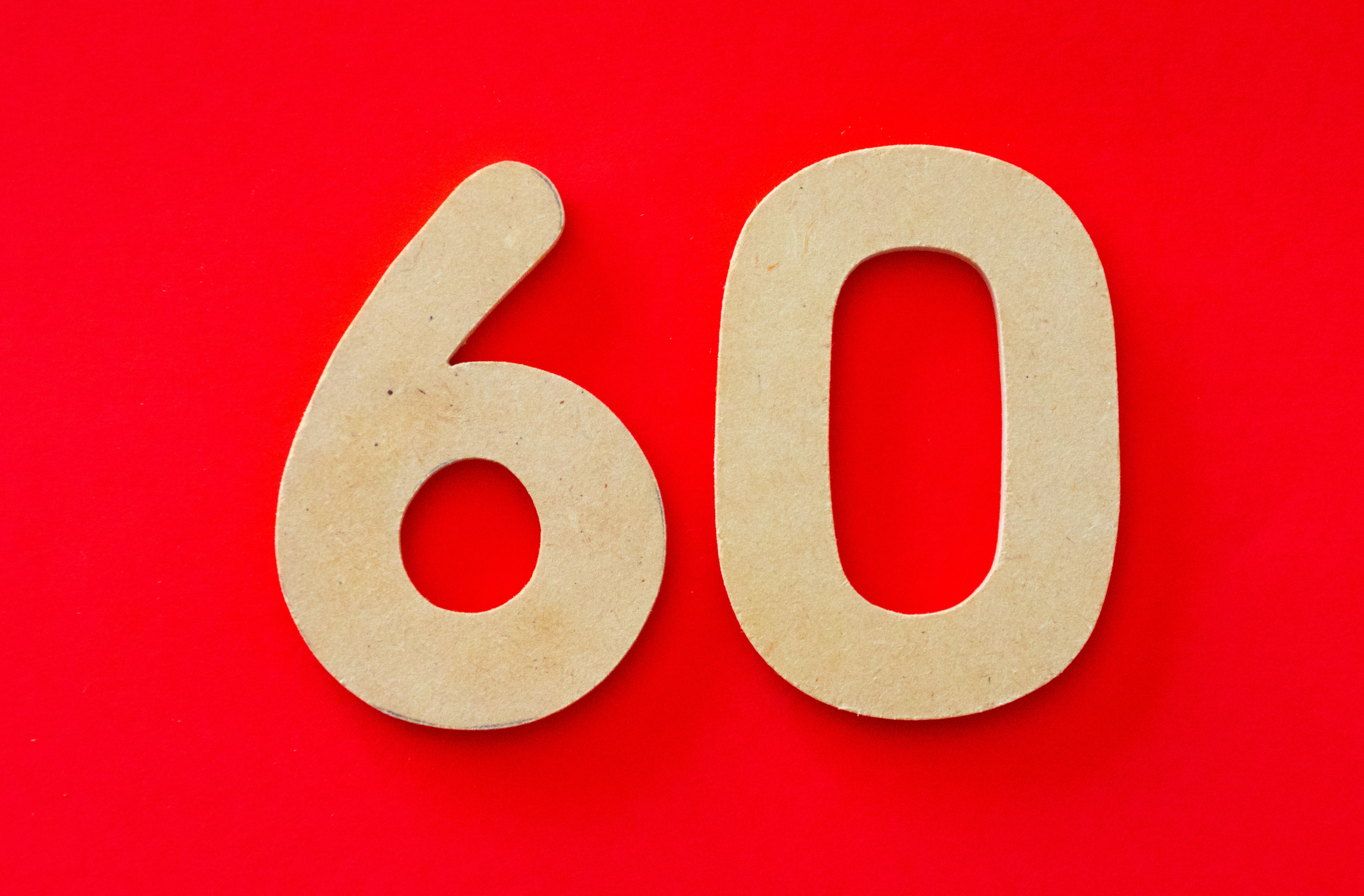 60 Number · Free Stock Photo