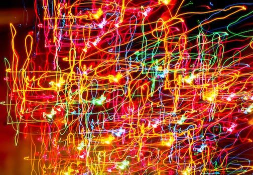 A photo of lights