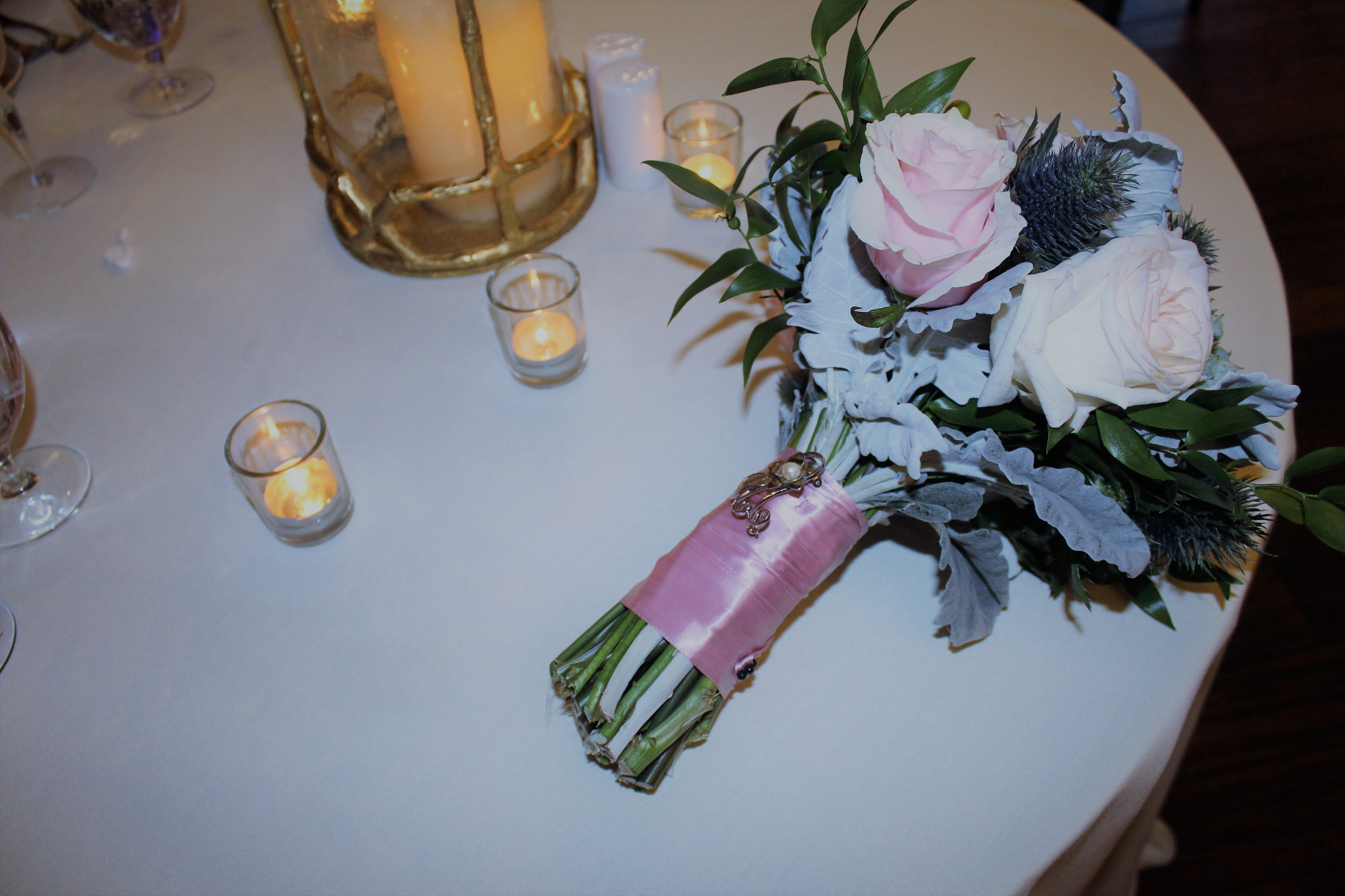 Free stock photo of flowers, table, wedding bouquet